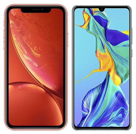Smartphone Comparison: Iphone xr vs Huawei p30