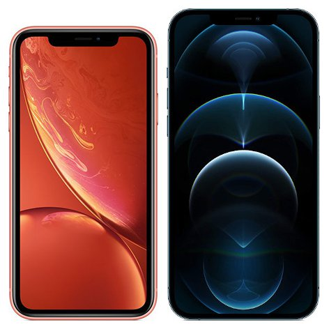 Smartphonevergleich: Iphone xr oder Iphone 12 pro max