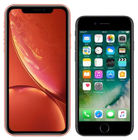 Smartphone Comparison: Iphone xr vs Iphone 7