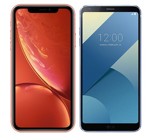 Smartphone Comparison: Iphone xr vs Lg g6