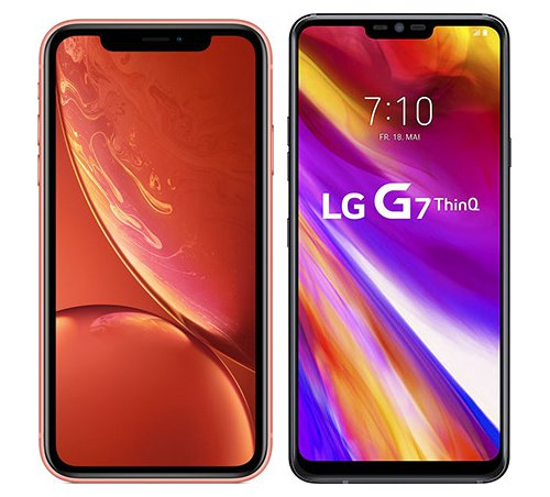 Smartphone Comparison: Iphone xr vs Lg g7 thinq