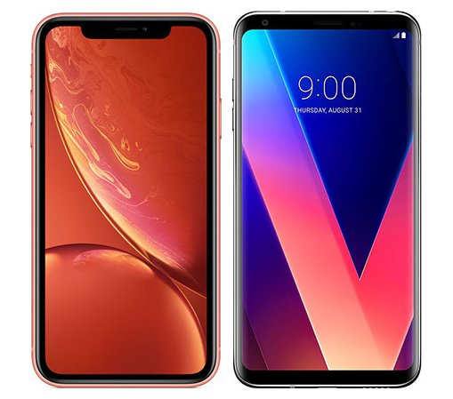 Smartphone Comparison: Iphone xr vs Lg v30