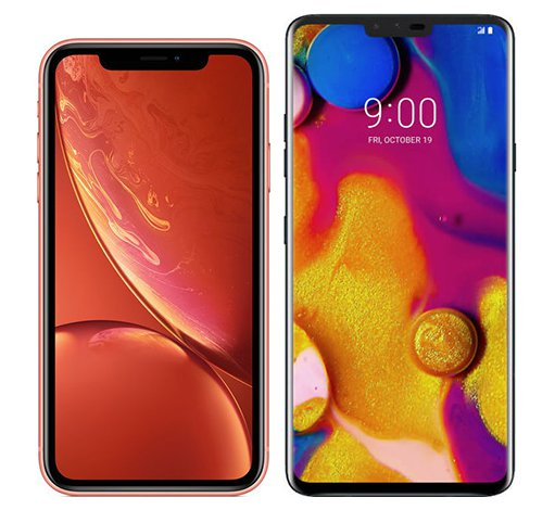 Smartphone Comparison: Iphone xr vs Lg v40 thinq
