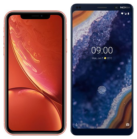 Smartphone Comparison: Iphone xr vs Nokia 9