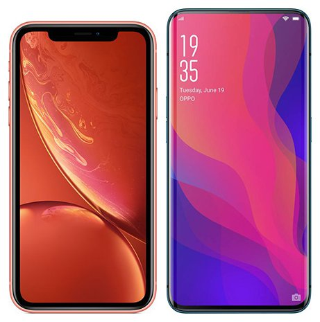 Smartphone Comparison: Iphone xr vs Oppo find x