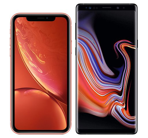 Smartphone Comparison: Iphone xr vs Samsung galaxy note 9
