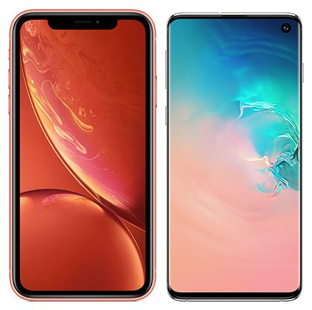 Smartphone Comparison: Iphone xr vs Samsung galaxy s10