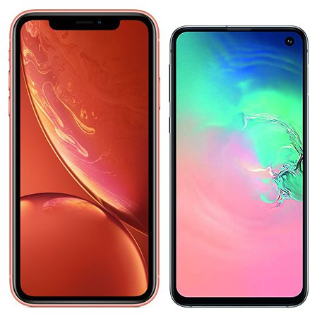 Smartphone Comparison: Iphone xr vs Samsung galaxy s10e