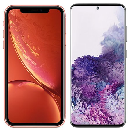 Smartphone Comparison: Iphone xr vs Samsung galaxy s20
