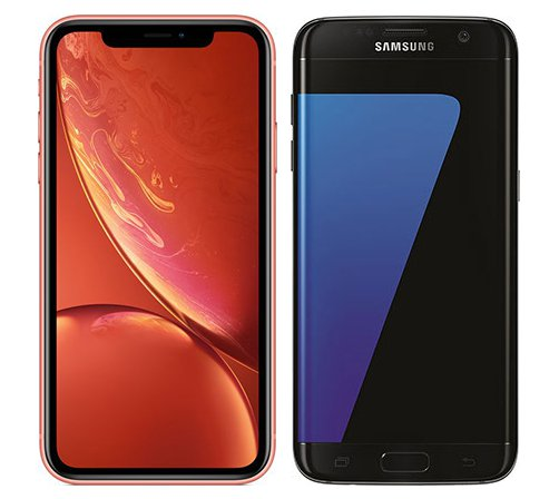 Smartphone Comparison: Iphone xr vs Samsung galaxy s7 edge