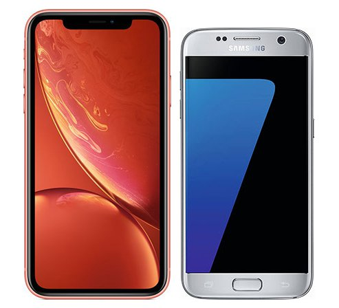 Smartphone Comparison: Iphone xr vs Samsung galaxy s7