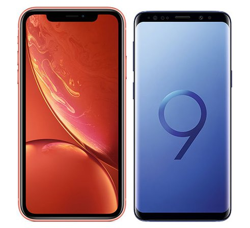 Smartphone Comparison: Iphone xr vs Samsung galaxy s9