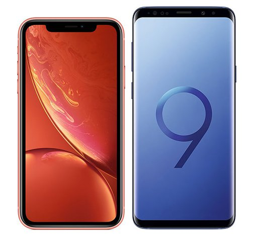 Smartphone Comparison: Iphone xr vs Samsung galaxy s9 plus