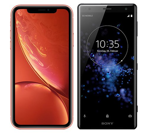 Smartphone Comparison: Iphone xr vs Sony xperia xz2