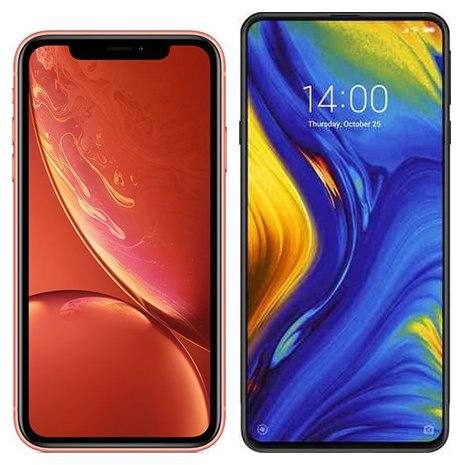 Smartphone Comparison: Iphone xr vs Xiaomi mi mix 3