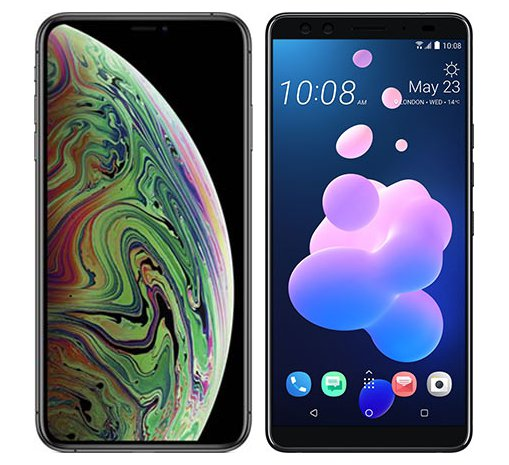 Smartphone Comparison: Iphone xs max vs Htc u12 plus