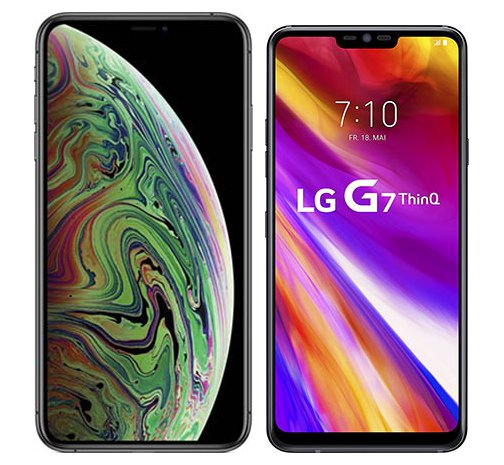 Smartphone Comparison: Iphone xs max vs Lg g7 thinq
