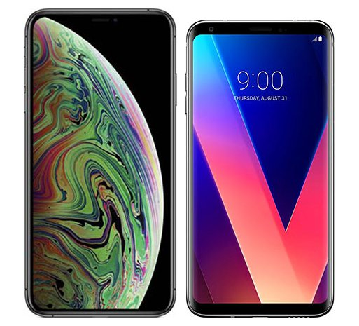 Smartphone Comparison: Iphone xs max vs Lg v30