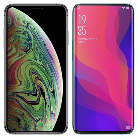 Smartphone Comparison: Iphone xs max vs Oppo find x