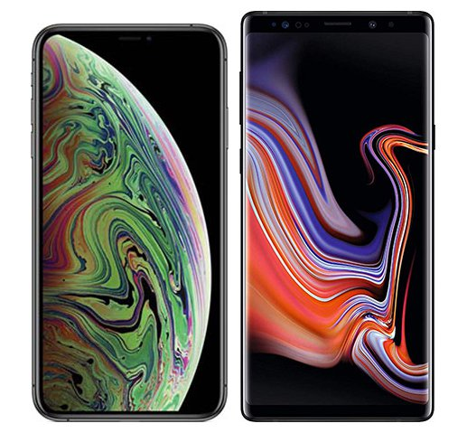 Smartphone Comparison: Iphone xs max vs Samsung galaxy note 9