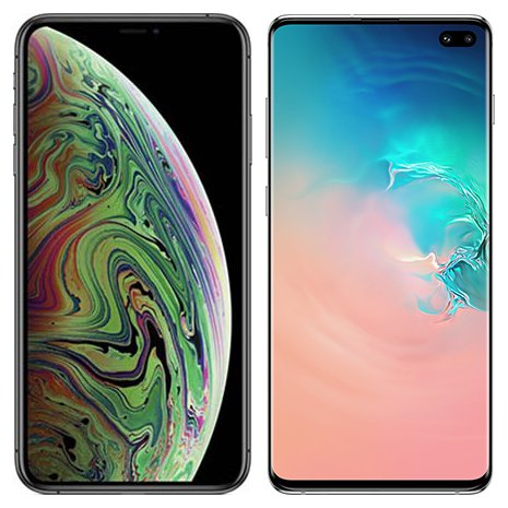 Smartphone Comparison: Iphone xs max vs Samsung galaxy s10 plus