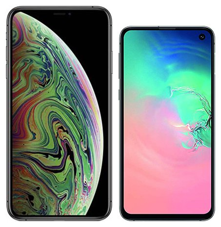 Smartphone Comparison: Iphone xs max vs Samsung galaxy s10e