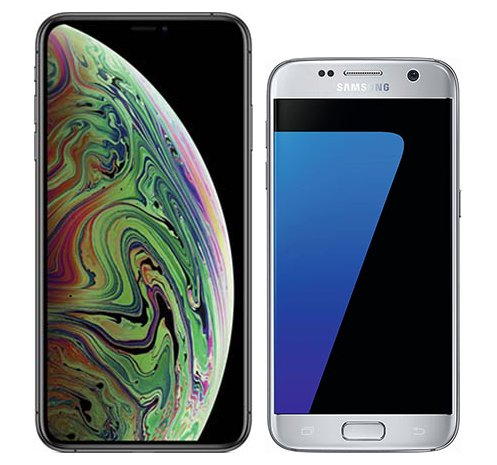 Smartphone Comparison: Iphone xs max vs Samsung galaxy s7