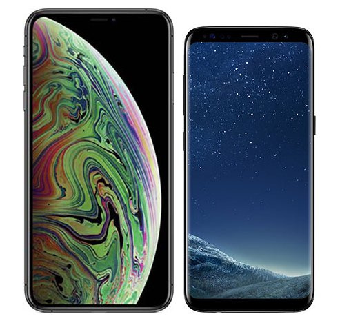 Smartphone Comparison: Iphone xs max vs Samsung galaxy s8