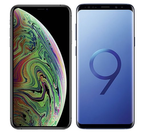 Smartphone Comparison: Iphone xs max vs Samsung galaxy s9 plus