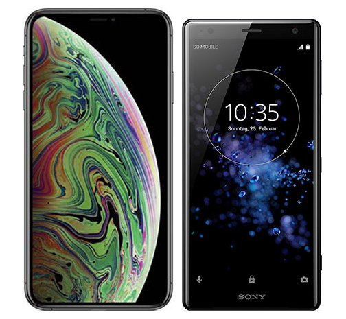 Smartphone Comparison: Iphone xs max vs Sony xperia xz2