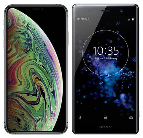 Smartphone Comparison: Iphone xs max vs Sony xperia xz2 premium