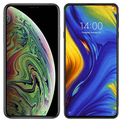 Smartphone Comparison: Iphone xs max vs Xiaomi mi mix 3