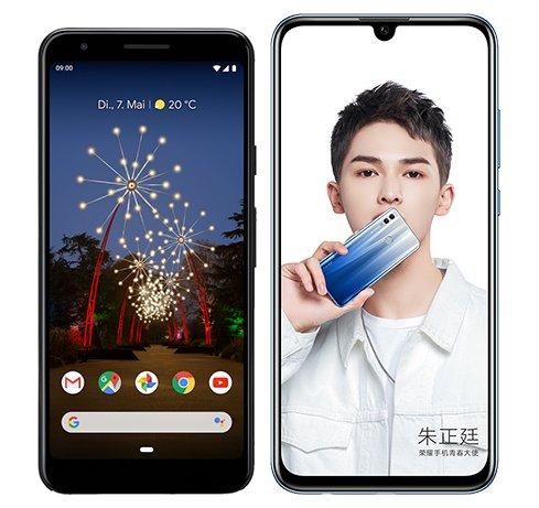 Smartphone Comparison: Google pixel 3a vs Honor 10 lite