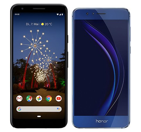 Smartphone Comparison: Google pixel 3a vs Honor 8
