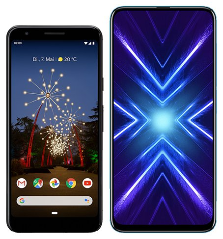 Smartphone Comparison: Google pixel 3a vs Honor 9x