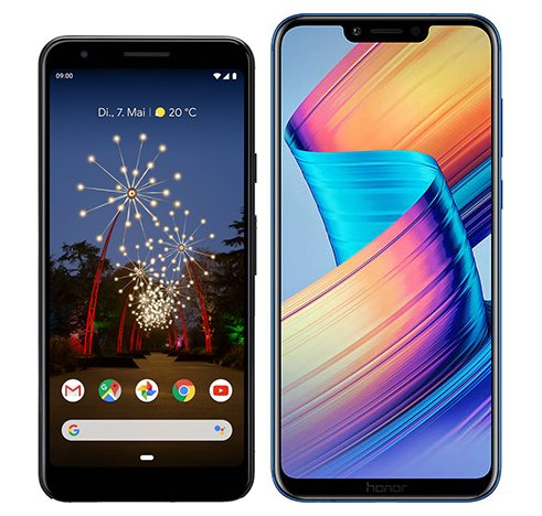Smartphone Comparison: Google pixel 3a vs Honor play