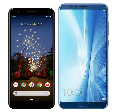 Smartphone Comparison: Google pixel 3a vs Honor view 10