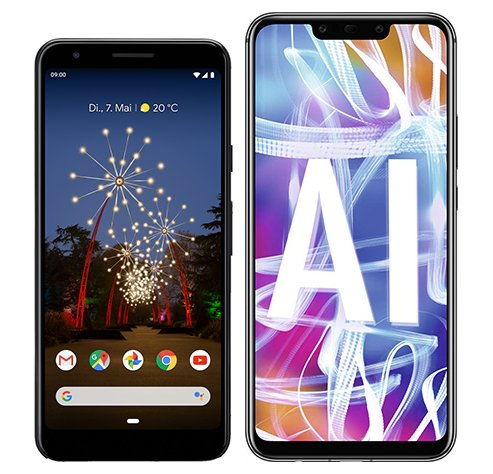 Smartphone Comparison: Google pixel 3a vs Huawei mate 20 lite