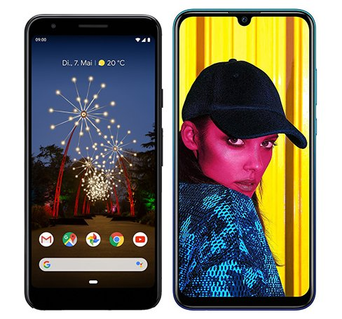 Smartphone Comparison: Google pixel 3a vs Huawei p smart 2019