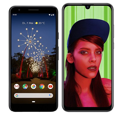 Smartphone Comparison: Google pixel 3a vs Huawei p smart plus 2019