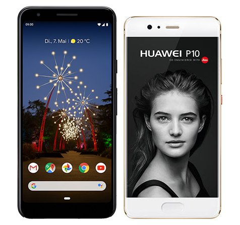 Smartphone Comparison: Google pixel 3a vs Huawei p10
