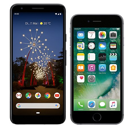 Smartphone Comparison: Google pixel 3a vs Iphone 6s