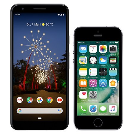 Smartphone Comparison: Google pixel 3a vs Iphone se