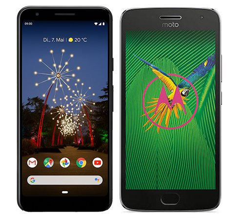 Smartphone Comparison: Google pixel 3a vs Motorola moto g5 plus