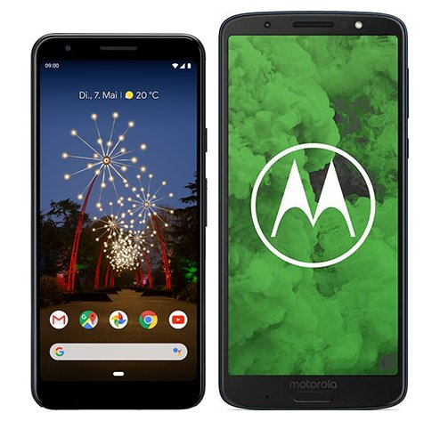 Smartphone Comparison: Google pixel 3a vs Motorola moto g6 plus