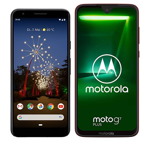 Smartphone Comparison: Google pixel 3a vs Motorola moto g7 plus