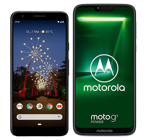 Smartphone Comparison: Google pixel 3a vs Motorola moto g7 power