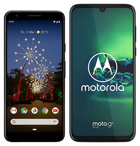 Smartphone Comparison: Google pixel 3a vs Motorola moto g8 plus