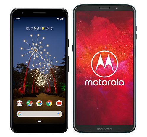 Smartphone Comparison: Google pixel 3a vs Motorola moto z3 play