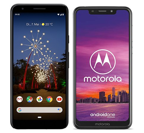 Smartphone Comparison: Google pixel 3a vs Motorola one